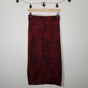 Melissa McCarthy Seven7 Pencil Snakeskin Skirt XL